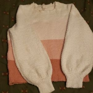 Multicolored fluffy sweater